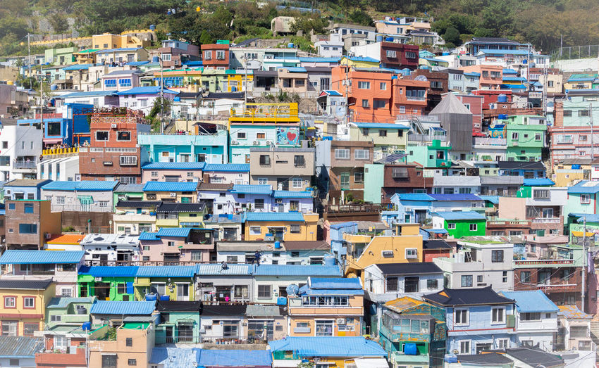 Colorful houses of gamcheon culture village
