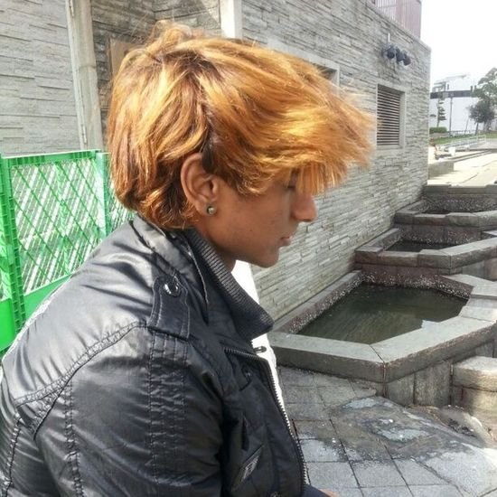 Coldwind Blow Messy Hair hairstyle Enjoy Cool Breeze Colour Fukuoka Japan Kokura sightseeing My friend @c0rntagious caught me day dreaming hahahaha!