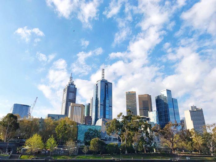 Melbourne CBD Building Exterior Architecture Built Structure Building Office Building Exterior City Skyscraper Tall - High Cityscape Tower Office Day Cloud - Sky Nature Landscape Sky Urban Skyline Modern Tree Plant