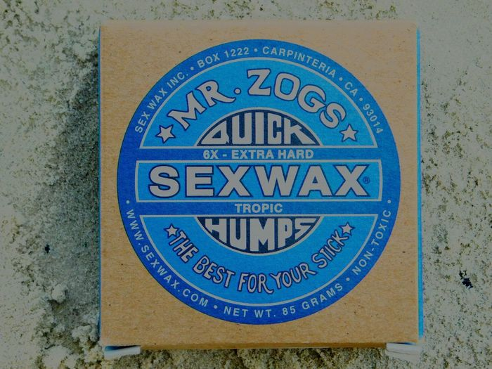 Beach Sexwax  Blue Text Sandy Beach