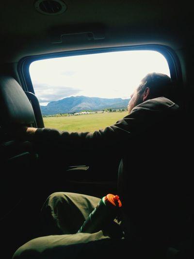 Getting fresh air on a road in Utah