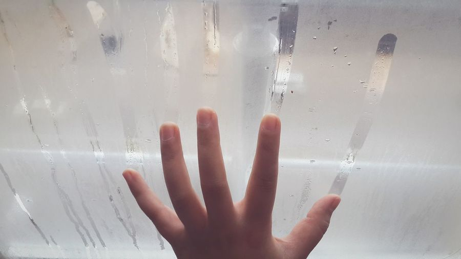 Childhood Close-up Cropped Detail Draw Drawing Snapshots Of Life Abstract Things I Like Getting Inspired Glass Glass - Material Hand Human Hand Indoors  Telling Stories Differently Steam Steamy Steamy Windows Transparent Weather Wet Window Showing Imperfection Bathroom Visual Creativity