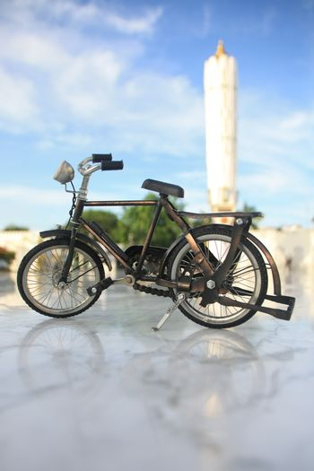 Aceh Aceh, Indonesia Transportation No People Day Cloud - Sky Sky Outdoors Nature Bicycle Selective Focus Mode Of Transportation Land Vehicle Focus On Foreground Close-up Wheel Metal Architecture Stationary White Color Built Structure Surface Level