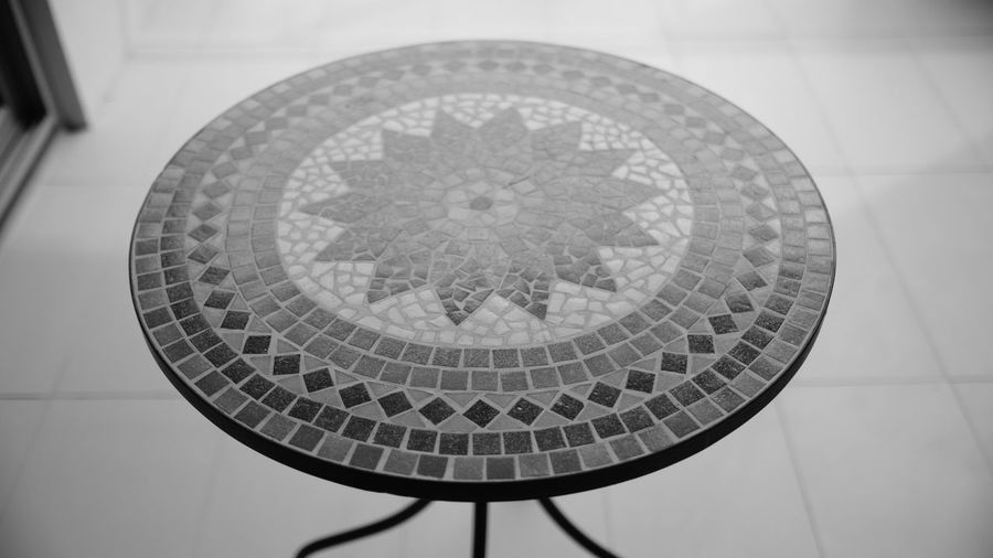 Black & White Black And White Blackandwhite Blackandwhite Photography Circle Circular Circular Table Close-up Day Fujifilm Fujifilm_xseries Geometric Geometric Shape Geometry Indoors  Monochrome No People Outdoor Table Pattern