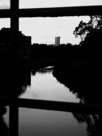 Silhouette Architecture Built Structure Water Reflection Tranquil Scene Bridge Downtown Texas Satx City Life Texas Skies The Week On EyeEm EyeEmNewHere