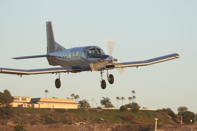 Air Vehicle Airplane Airport Day Flying Landing - Touching Down Mid-air Outdoors PAC 750 XL Sky Transportation Travel