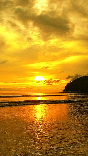 Sunset, beach, Thailand, Phuket, sunset at phuket, sky,beautiful sky From My Point Of View Thailand Phuket Phuket,Thailand Phuket Island Phuket Beach Layan Beach NAT