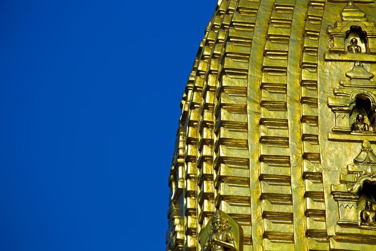 Ananda Ananda Temple Gold Magical Mandalay Pagoda Stupa UNESCO World Heritage Site Archeological Complex Architecture Bagan Belief Blue Buddhist Temple Burma Clear Sky Day Myanmar Mystical No People Outdoors Pagan Sky Temple World Wonder