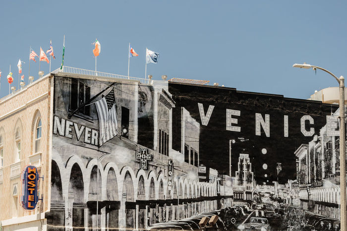 Venice, Los Angeles Architecture Building Exterior Built Structure City Clear Sky Day Flag No People Outdoors Patriotism Politics And Government Sky Venice
