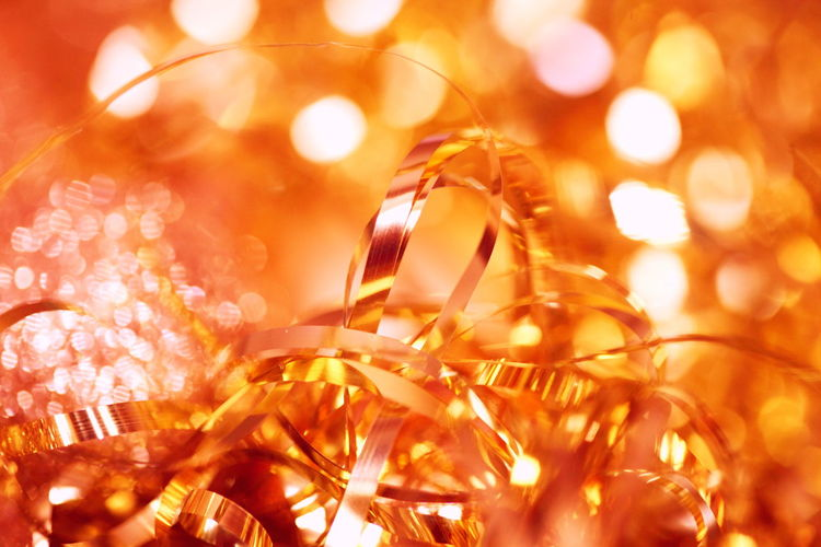 Golden goodness with the macro lens. Abstract Backgrounds Bright Christmas Christmas Decorations Close-up Full Frame Glitter Gold Golden Holiday Holidays Illuminated Light Macro Maximum Closeness Night No People Ribbon Seasonal Shiny Sparkle Tinsel  Yellow Bokeh