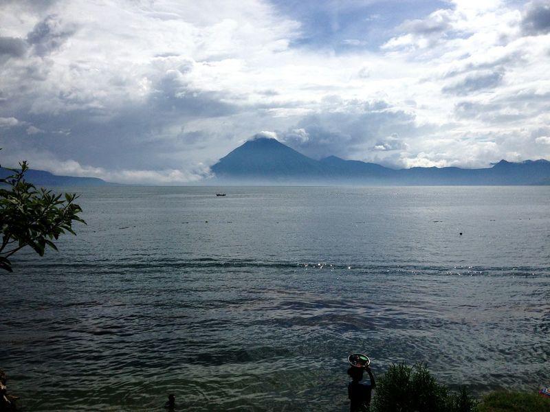 Guatemala Lago Atitlán Lake View Lake Nature