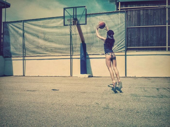Let's ballin' Adventure Buddies Basketball Sexygirl Woman Action Hanging Out Taking Photos Summer Holidays Capture The Moment The Street Photographer - 2016 EyeEm Awards Found On The Roll