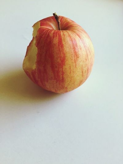 Close-up of eaten apple