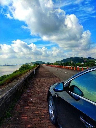Water Road Blue