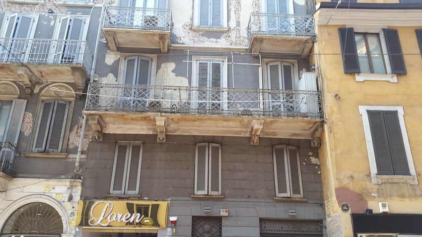 Milano Architecture Building Exterior Window Built Structure No People Low Angle View Outdoors Balcony Day
