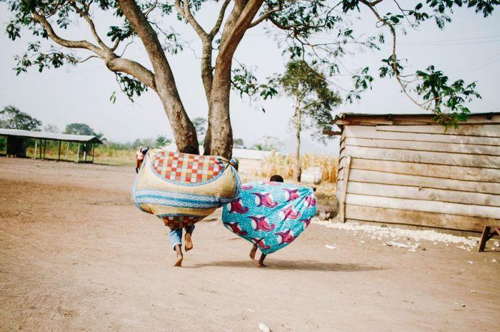 Miles Away Ghana EyeEmBestPics Africa Running Kids Being Kids Kids Playing Colorful Miles Away
