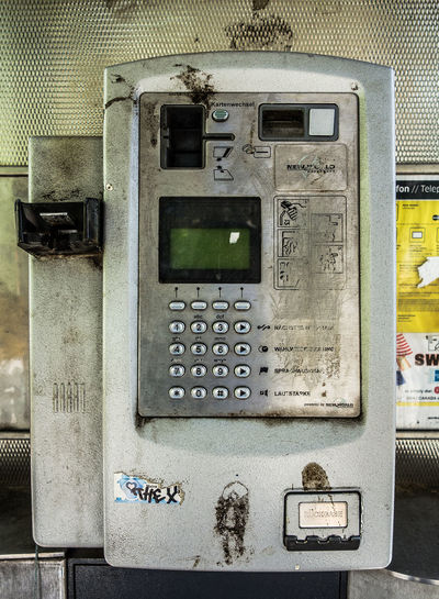 Abandoned Broken Phone Booth Close-up Communication Day Information Information Sign No People Retro Styled Telefonzelle Telephone Telephone Booth Text