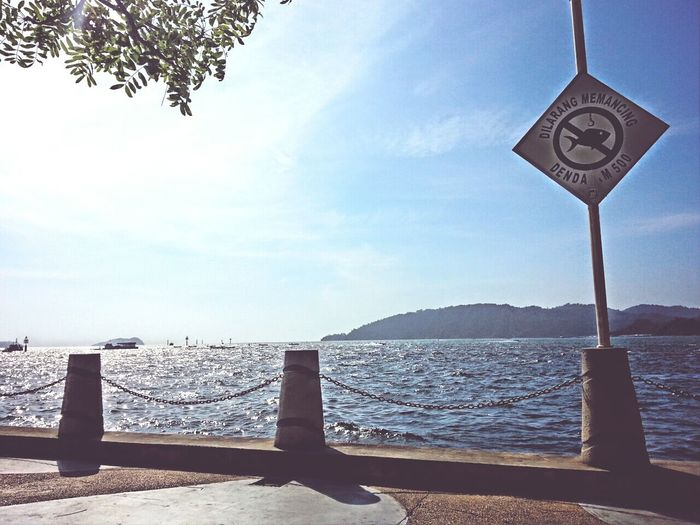 It's a very Hot And Sunny day here in Downtown Kota Kinabalu Waterfront Boulevard Waterfront