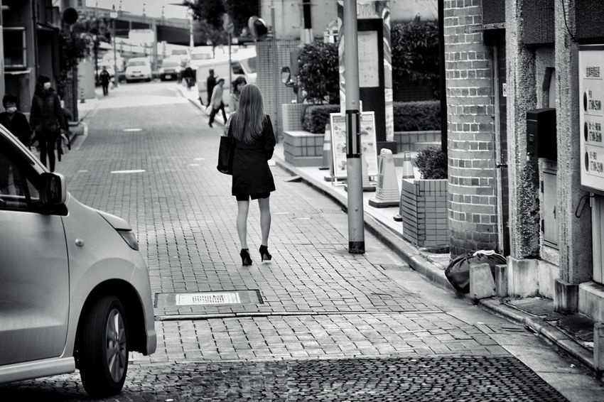 Capture The Moment Walking People Full Length Women Who Inspire You Women Around The World Streetphotography Uzu St. Blackandwhite Monochrome Urban Exploration Depth Of Field Selective Focus Getting Inspired Taking Photos Fine Art Photography Light And Shadow City Street Backstreets & Alleyways Full Frame Detail SONY A7ii Sigma EyeEm Best Shots 17_10 EyeEmNewHere Second Acts Black And White Friday