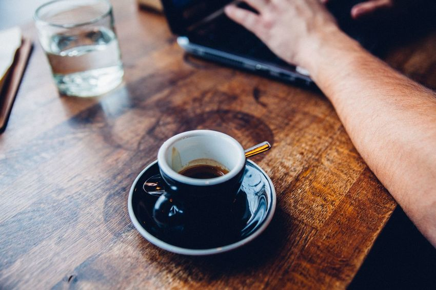 Coffee - Drink Coffee Cup Drink Food And Drink Table Technology Wireless Technology Working