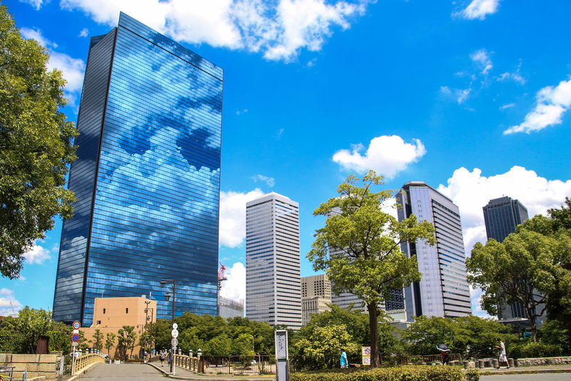 夏空 大阪市ビジネスパークFrom My Point Of View Catch The Moment The Essence Of Summer OSAKA Summer Summer Views City City View  Reflection My Fevorite Place Adapted To The City