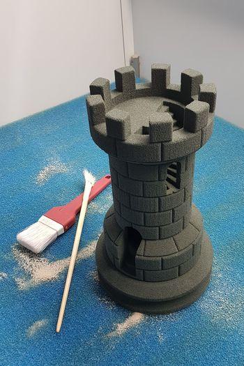 Semestern är slut, men fortsätter att bygga sandslott i +30°C... Sandcastle 3d Printing Fun At Work