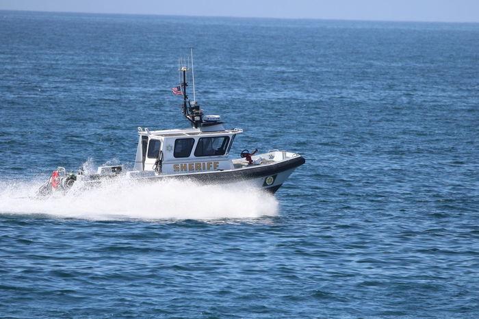Jet Boat Mode Of Transport Motion Nautical Vessel Outdoors Patrol Boat Patrolling Real People Sea Sheriff Speed Transportation Water Water Police Water Sheriff