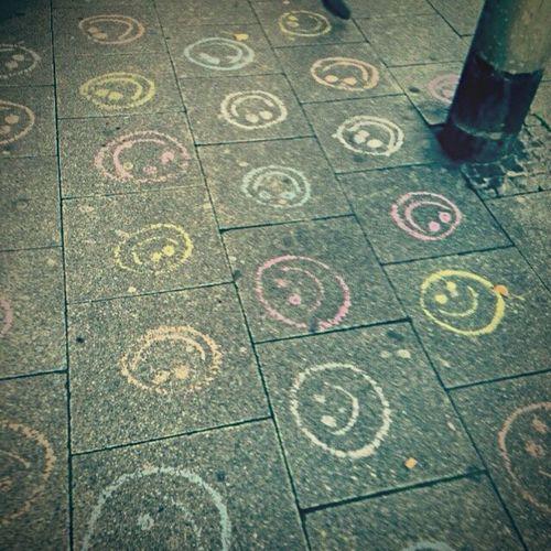 Happy Face 🎀 Happy Faces Sidewalk Chalk Sidewalk Art Chalk Art Chalk Drawing Smiley Face Smiley Faces Smiley Frankfurt Germany Visual Creativity
