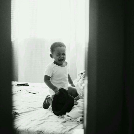 Boy looking away