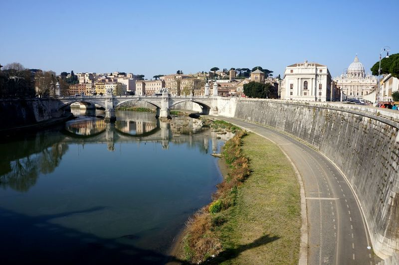 Architecture City Cityscape Travel Destinations Clear Sky Outdoors Water Day History Sky No People Rome Italy
