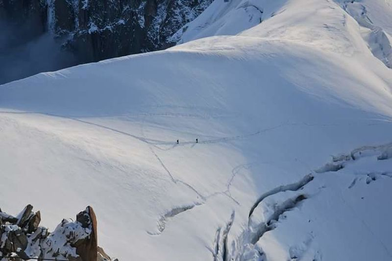 Moutains Moutain Top Moutain View Alpinism Sunrise Snow Aiguilledumidi Crevasse Go Higher