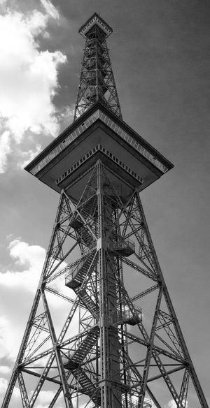 Architecture Berlin Black & White Black And White Black And White Photography Black&white Blackandwhite Blackandwhite Photography Built Structure Cloud Cloud - Sky Clouds Clouds And Sky Day Funkturm Funkturm Berlin Low Angle View Messe Berlin No People Outdoors Sight Sky Tower