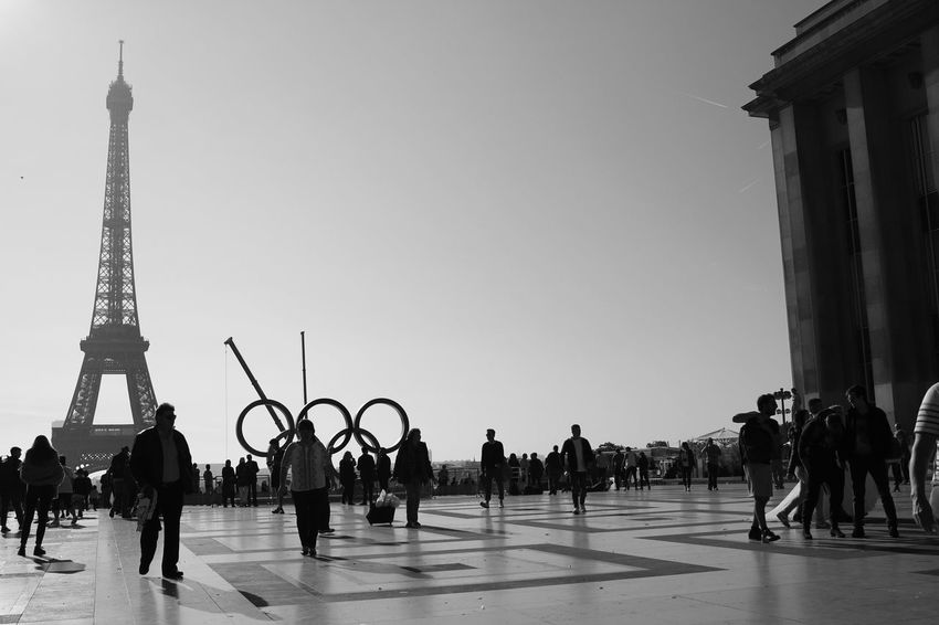 Large Group Of People Adults Only Adult People Travel Destinations Architecture Men Day Sky Outdoors Politics And Government City Only Men Monochrome Bwcollection Adult Paris, France  Paris City City Life Togetherness City Landscape Trocadero Trocadéro Gardens Jardins Du Trocadéro Discover Berlin The Week On EyeEm EyeEmNewHere Lost In The Landscape