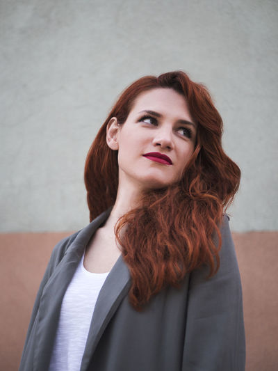 Beautiful Fashion Green Love Makeup Portrait Of A Woman Romantic Woman Beautiful Woman Beauty Close-up Contrast Day Dyed Hair Lifestyles Mermaid One Person People Portrait Real People Redhead Standing Tones Young Adult Young Women