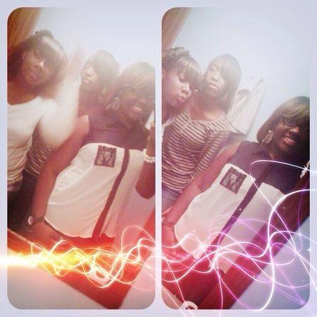 Me, Kayla, And Kierra Saturday.