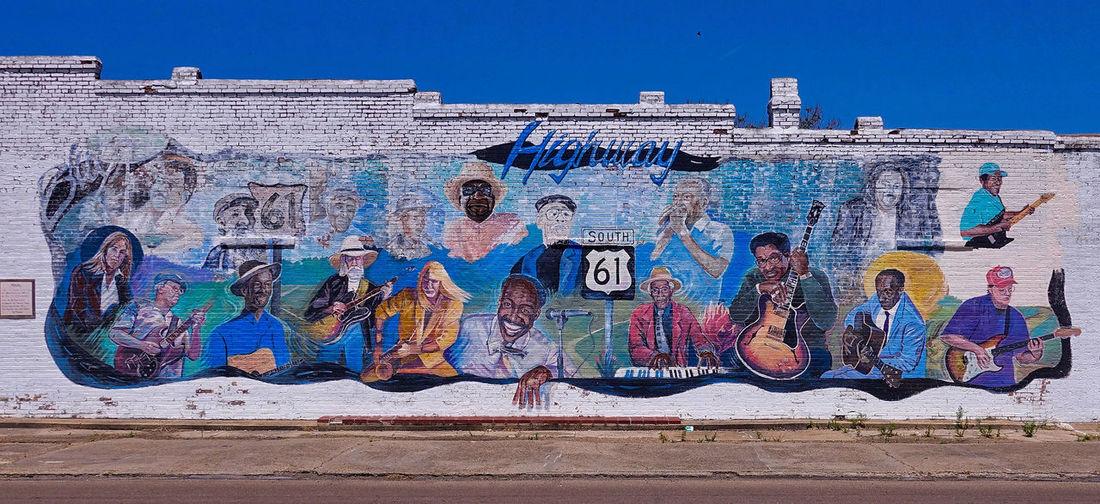 A mural at