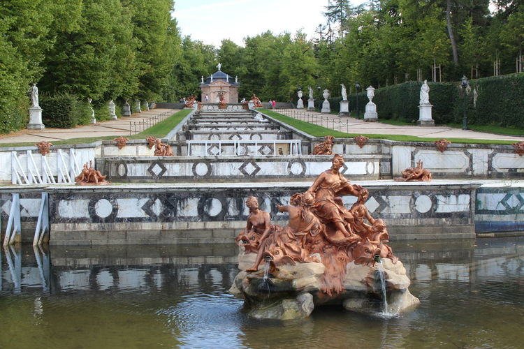 View of a sculpture in a lake