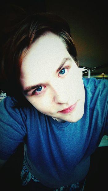 Selfie Gay Boy Blue Eyes Fagswag