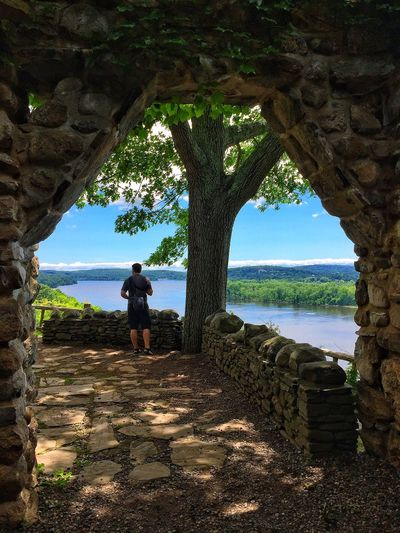 A man can dream The Traveler - 2015 EyeEm Awards Castle Connecticut Overlooking Travel Photography View From Above Gillette Castle River River View Holiday POV