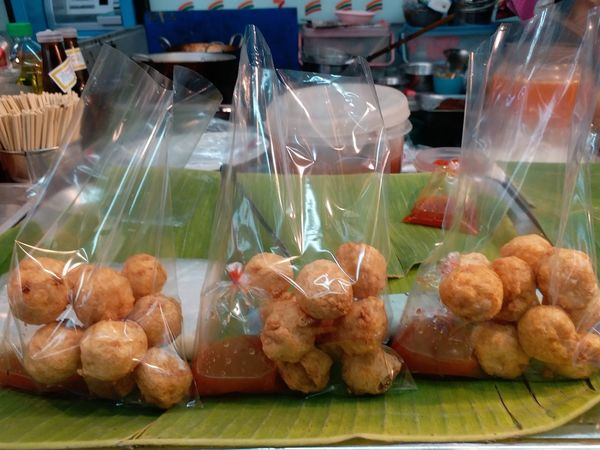 Fried Shrimp Rolls  Fried Shrimp Ball Plastic Bag Delicious Food Food And Drink Store Meat No People Freshness Ready-to-eat Day