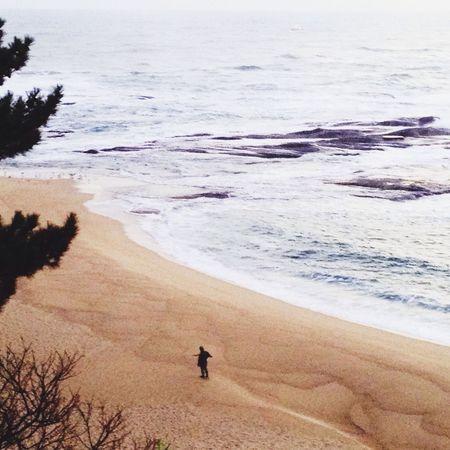 Soilder on the shore