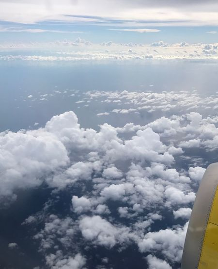 Cloud - Sky Sky Nature Beauty In Nature Scenics Cloudscape Airplane Journey Day Flying
