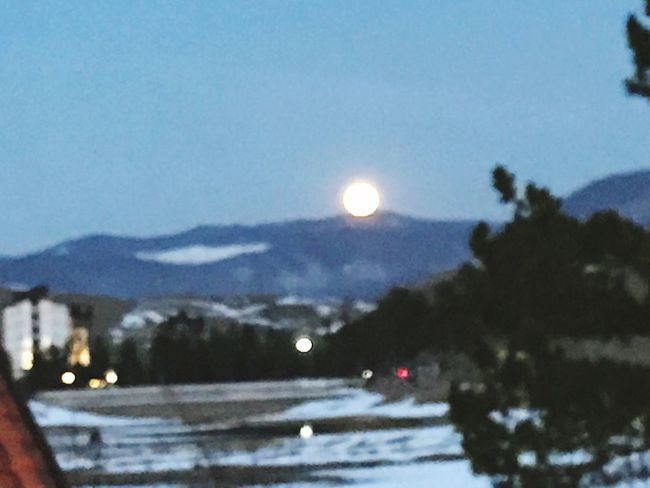 Natural Moon Scenics Mountain Sky No People