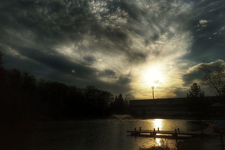 公園 Park Reflection Water Reflections Sunset Sun_collection Clouds And Sky Light And Shadow 反射 EyeEm Best Shots