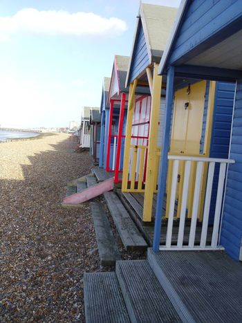 Beach Beach Huts Colourful Herne Bay Herne Bay Beach Huts Kent Wooden Structure