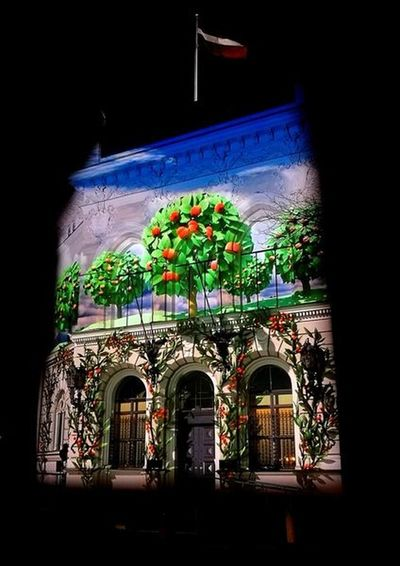 Light Festival Light Installation Light Painting National Bank Bank Bank Building Building Exterior City Architecture Built Structure Façade A New Perspective On Life