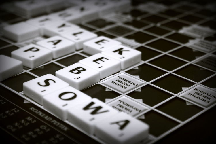 Scrabble Black & White Black And White Black And White Photography Close-up Focus On Foreground Game High Angle View Indoors  Monochrome No People Number Text