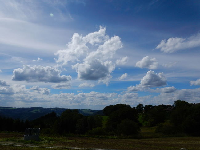 Cloud - Sky Tree Nature Agriculture Field Outdoors No People Sky Landscape Rural Scene Day Beauty In Nature Mountain Sauerland Iserlohn Nature Dramatic Sky Storm Cloud City