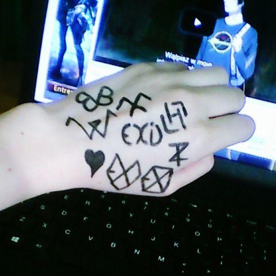 Bvb Army By Me Winner ❤ Monsta X EXO Tao  Luhan♥️ EXID Paint Black Veil Brides <3