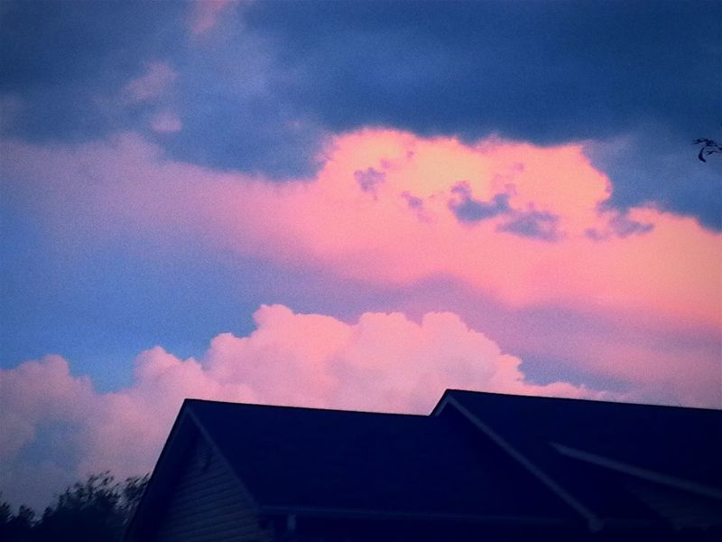 Clouds Sky Pink Sunset My View From My Front Porch